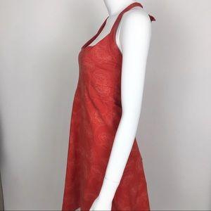 Patagonia Dresses - Patagonia Halter Top Floral Orange Dress